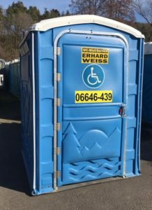Behindertengerechte Miettoilette