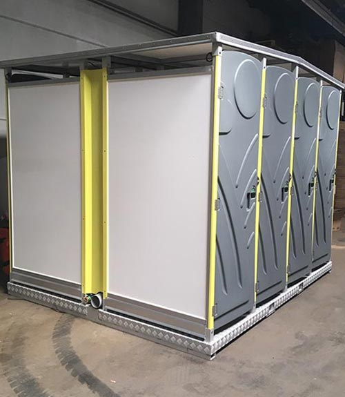 Mobile Toiletten Anlage